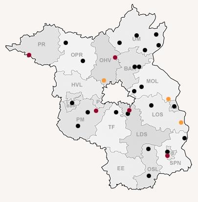 """Karte der Opferperspektive """"Todesopfer rechter Gewalt in Brandenburg"""""""